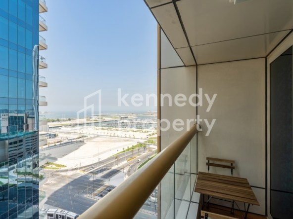 Fully Furnished | High Floor | Palm and Sea View